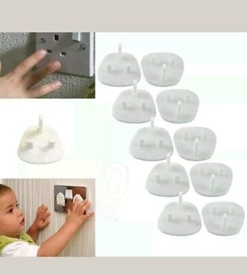 12 x Plug Socket Covers Babies Children's Safety Protector for UK 3 Pin Sockets
