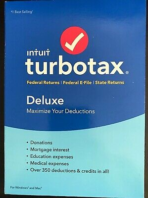 Intuit TurboTax Deluxe + State 2018 Tax Software [PC/Mac Disc]
