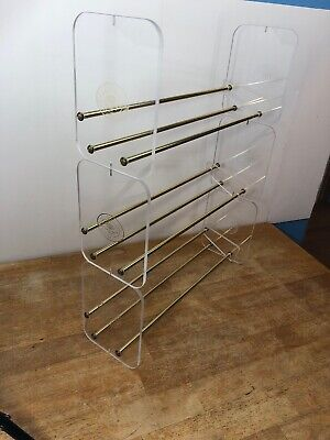 Napa Valley Box Company Clear CD DVD Storage Holder Racks Adjustable Stackable