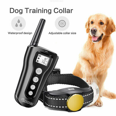 Dog Shock Collar With Remote Waterproof Electric for Large Pet Training new M6V9