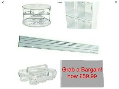 Deflecto storage Bundle (NEW), Tubs/Boxes/Carousel organisation and wall mount.