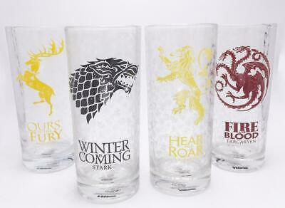 GAME OF THRONES - All Houses - Glass Set of 4