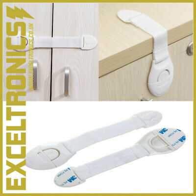 2 x BABY SAFETY CUPBOARD DOOR DRAWER LOCK CLIP BABY/KID/CHILD PROOF FRIDGE LOCKS