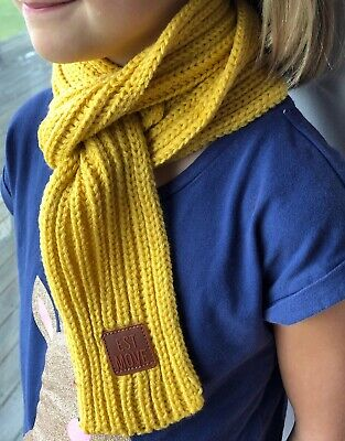 Mustard Yellow Scarf for children kids beautiful soft  for winter, Aussie seller