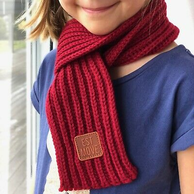 Maroon Scarf for children kids beautiful soft perfect for winter, Aussie seller