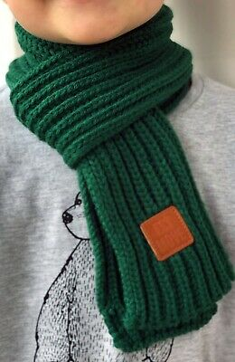 Green Scarf for children kids beautiful soft perfect for winter, Aussie seller
