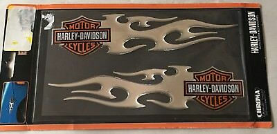 Harley-Davidson Bar & shield Flames Domed Decal sticker Harley