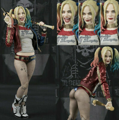 S.H Figuarts Suicide Squad Harley Quinn Poseable PVC Model Action Figure Toy New
