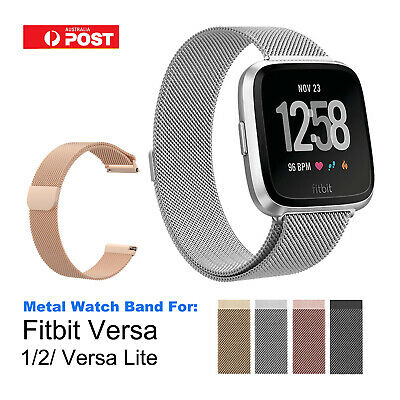 Stainless Steel Metal Band for Fitbit Versa 1 2 Milanese Loop Wrist Watch Strap