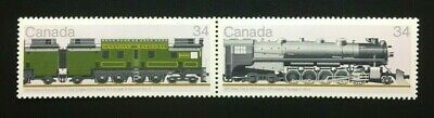 "Canada #1118-1119a MNH, Canadian Locomotives ""4"" Pair of Stamps 1986"