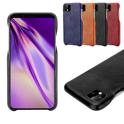For Google Pixel 4 4XL Phone Back Case PU Leather Shockproof Protective Cover