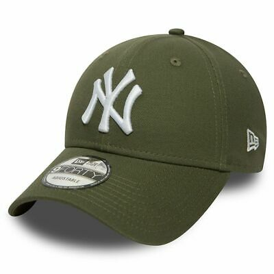 New Era 9Forty New York Yankees MLB Baseball Strapback Cap Hat Olive Green