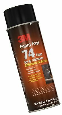 3M Foam Fast 74 Spray Adhesive Clear, (Net Fill: 16.9 fl Ounce)(Pack of 1) - ...