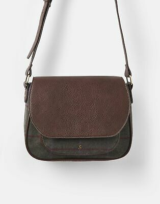 Joules 207385 Saddle Bag in GREEN TWEED in One Size
