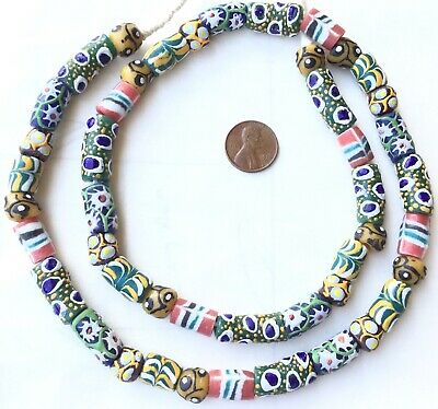 African mountain mixed recycled Glass Ghana African Trade Beads-Ghana