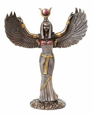 Egyptian Theme Isis Mythological Bronze Finish Figurine Goddess of Magic