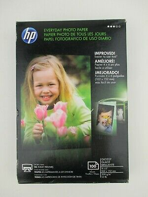 HP Everyday Photo Paper 4 x 6 100 sheets Q5440A Glossy - New Sealed