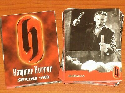HAMMER HORROR Series Two Complete Base Set Of 54 Trading Cards Strictly Ink 2010