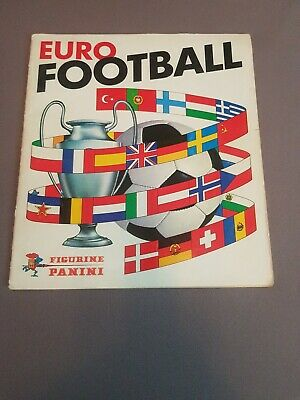vintage panini euro football 66-67 sticker album about 80% complete 40 stickers
