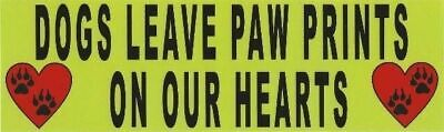 10in x 3in Dogs Leave Paw Prints Bumper Sticker Dog Window Stickers Decal Car...