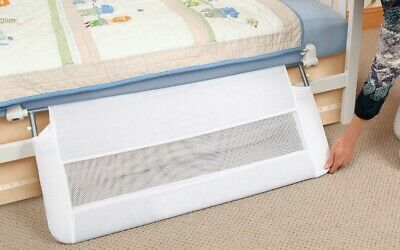 Regalo Swing Down Extra Long Convertible Crib Toddler Bed Rail Guard with Reinfo