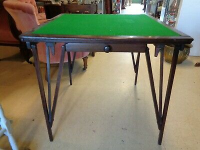 Campaign 'Cajac' Card Table - Hatherley Allen & Co 'RARE'