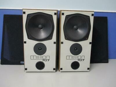 Hi End Vintage 1980's MISSION 707 Speakers 100w Made in England VGC Timber Cases