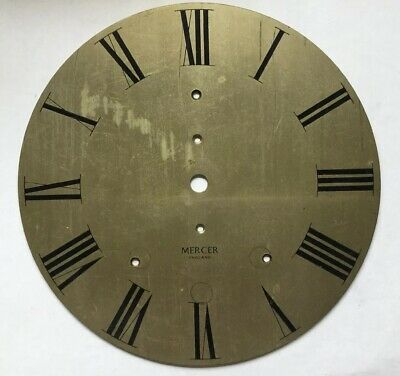 Vintage  Brass Ships Clock Or Bracket Clock Dial By Mercer England