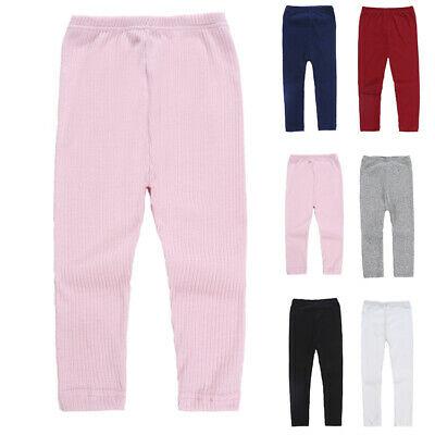Kids Girls Winter Warm Thick Full Length Leggings Party Pants Stretchy Trousers
