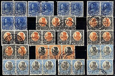 Thailand Siam Used Bulk: 1928 Used Multiples, 78 Stamps