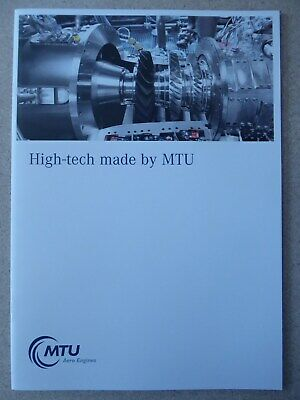 2019 Brochure Mtu Engines Manufacturing Maintenance Military Commercial Aircraft
