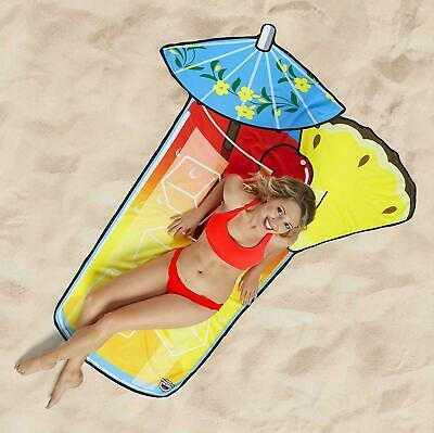 BigMouth Inc Giant 5ft Tropical Cocktail Drink Beach Pool Shower Towel Blanket
