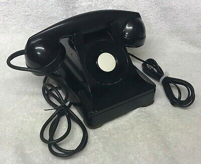 Rare Vintage 1940s WESTERN ELECTRIC 302 10-46 F1 Handset BLACK Desktop Telephone