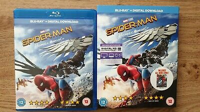 Spider-Man Homecoming (Blu-ray, 2017) with comic book