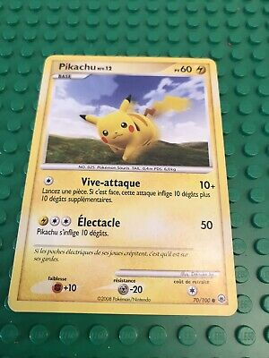 Carte Pokemon PIKACHU 70/100 NIV 12