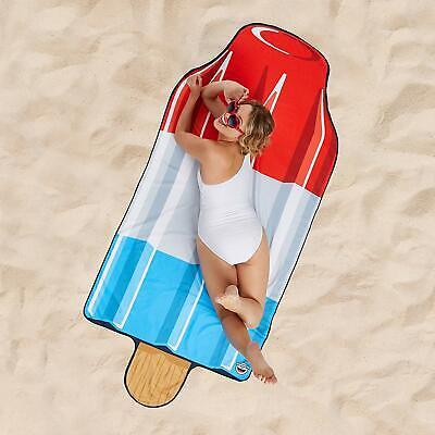 BigMouth Inc Giant 5ft Fun Rocket Bomb Ice Pop Shower Pool Beach Towel Blanket