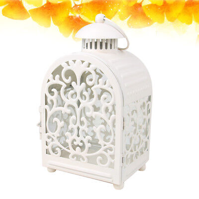 1pc Candle Lantern Vintage Moroccan Style Wrought Iron Candle Holder for Parties