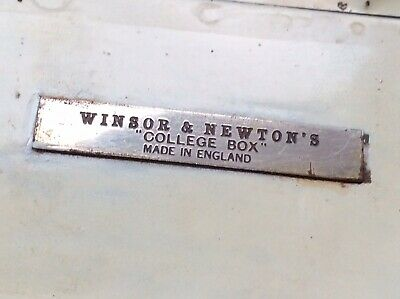 Small Vintage Winsor & Newton's - College Box - Field Set With Thumb Ring