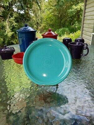 """SALAD bistro PLATE turquoise blue NEW HOMER LAUGHLIN FIESTA 7 1/4"""""""