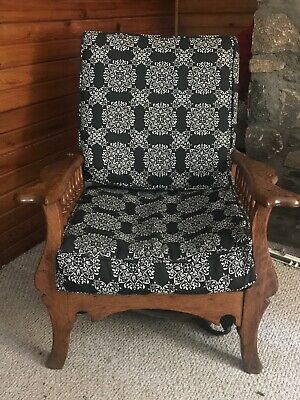 antique vintage morris chair hinged recliner