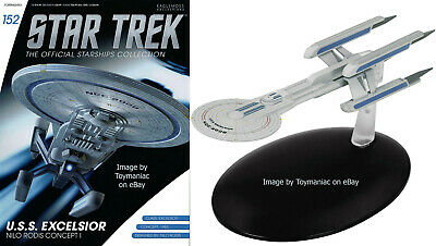Star Trek USS Excelsior Prototype Concept Starships Collection Eaglemoss #152