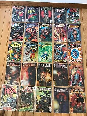 Vintage 25 DC Comic Books Assorted Titles Bagged Various Years & Series Lot 1