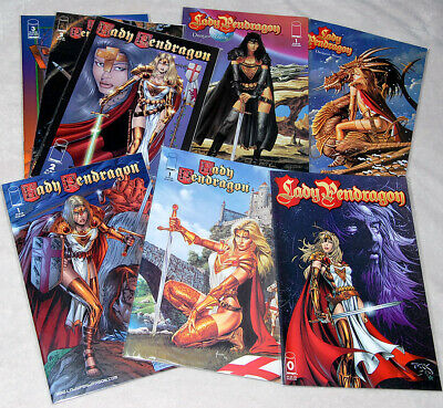 "Image Comics: ""Lady Pendragon"" #0-3 + Variant Covers + ""Dragon Blade #1"" 8 Hefte"