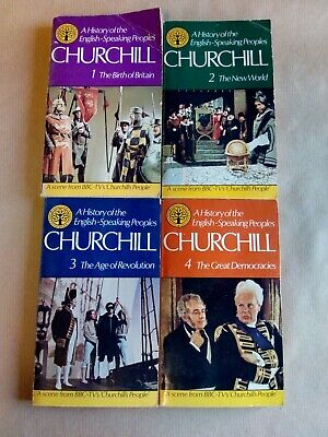 A History of The English Speaking Peoples Churchill Volume 1- 4 / Paperback