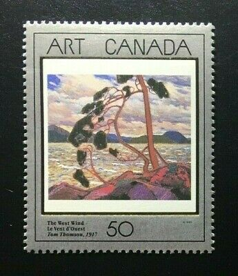 """Canada #1271 MNH, Masterpieces of Canadian Art """"3"""" Stamp 1990"""