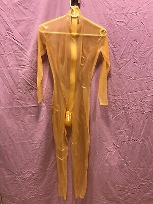 Latex Catsuit MAD DUCK DESIGNs Damen Gr. S 0,2mm transparent flesh overall