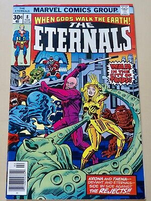 19-C0611: Eternals # 8, 1977, NM- 9.2! Movie out in 2020! See Promo 7 for 7!