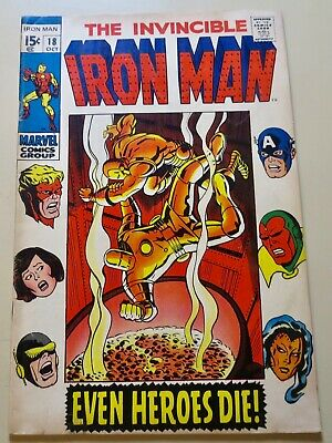 19-C0571: Iron Man # 18, 1969, FN 6.0! 1st MADAME MASQUE! See Promo 7 for 7!