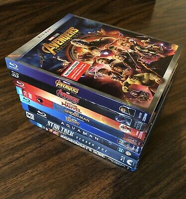8 Blu-Ray Lot: Avengers Infinity War, Spider-Man Homecoming, Black Panther, Star