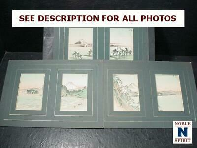 NobleSpirit  NO RESERVE (3970) 3x Japanese Landscape Paintings Collection